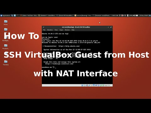 SSH into Virtualbox Guest VM from Host with NAT - YouTube