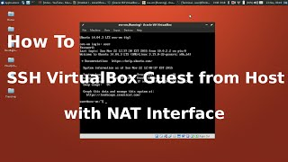 SSH into Virtualbox Guest VM from Host with NAT