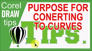 how to convert text to curves in coreldraw