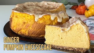 Ginger Pumpkin Cheesecake 생강 단…