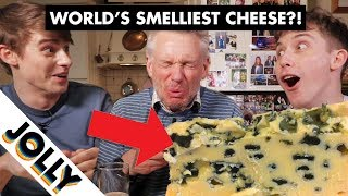 English Gentleman Tries Cheese that is BANNED on Public Transport??!