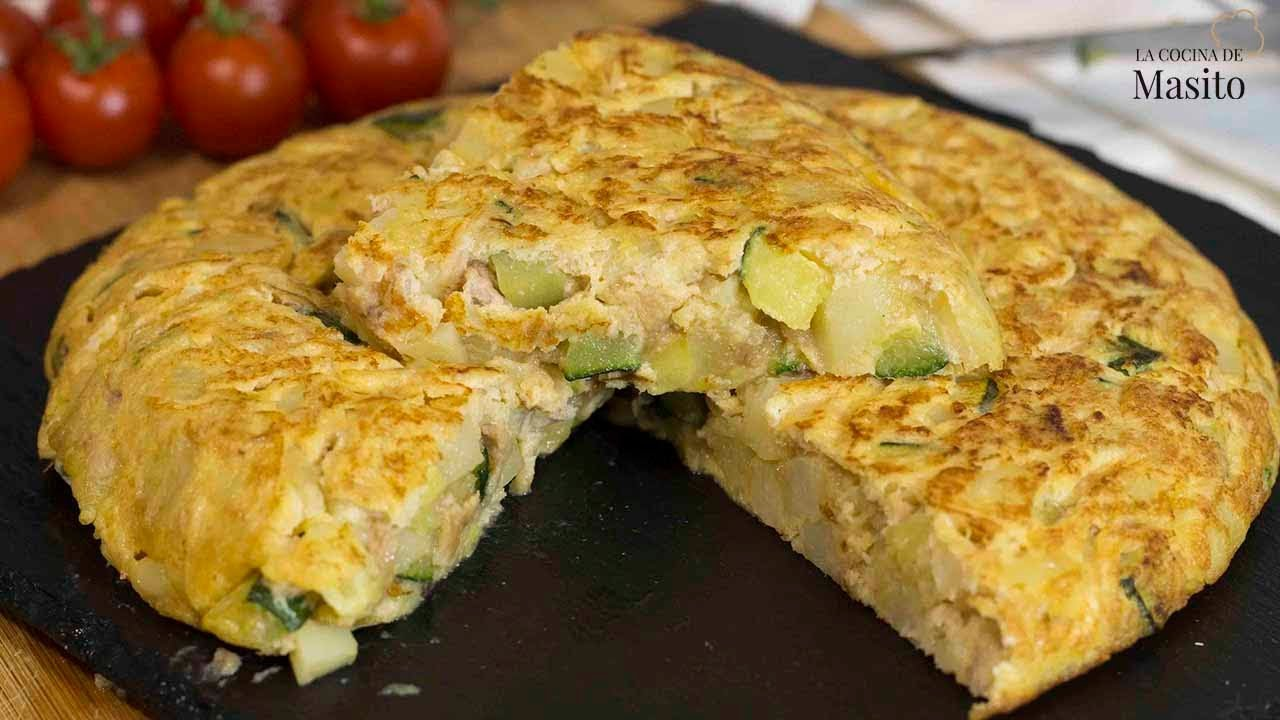 Cocina De Masito Omelette With Zucchini And Tuna Easy Recipe