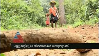 Sabarimala: Pilgrims approaching through traditional path of Pulmedu