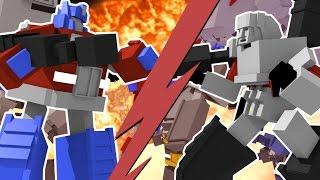 Minecraft | TRANSFORMERS CHALLENGE - Autobots vs Decepticons! (Transformer Battle)