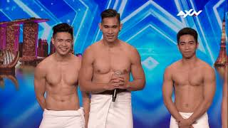 Stripboys Bare Their Hearts! Audition | Asia's Got Talent 2017