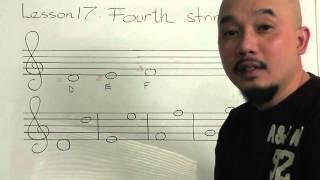 Tự học guitar căn bản bài 17(Dây 4)