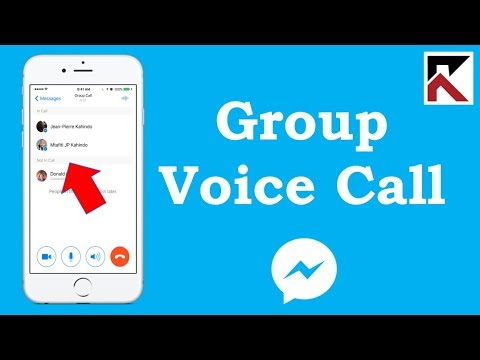 How To Group Voice Call Facebook Messenger