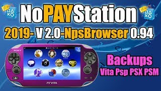 NoPayStation 2019 0.94 Backups PSvita PSP PSM y PSX desde tu PC