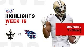 Michael Thomas' Record-Breaking Day | NFL 2019 Highlights