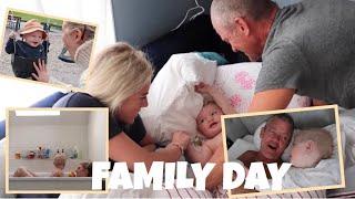 SLEEPOVER MED FAMILJEN!