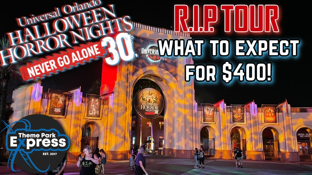 My Halloween Horror Nights RIP Tour Experience! Is It Worth It? What To Expect For $400!
