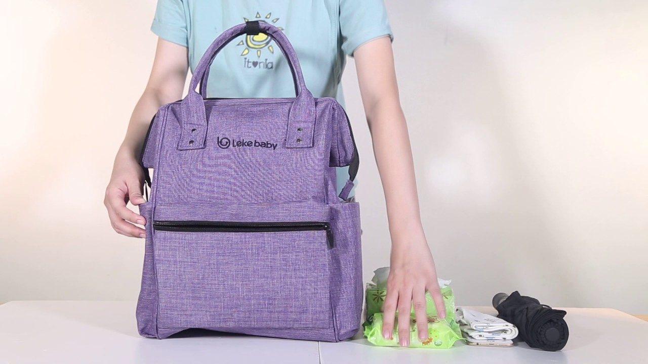 8ec13db551 LEKEBABY DIAPER BAG - From Yummy Mummy in Lazada - YouTube