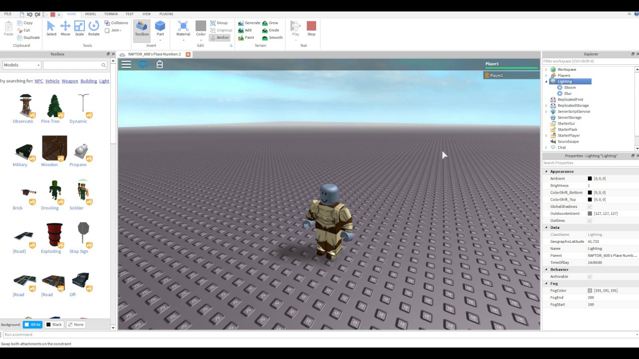 How To Add Graphic Effects In Roblox Studio Youtube