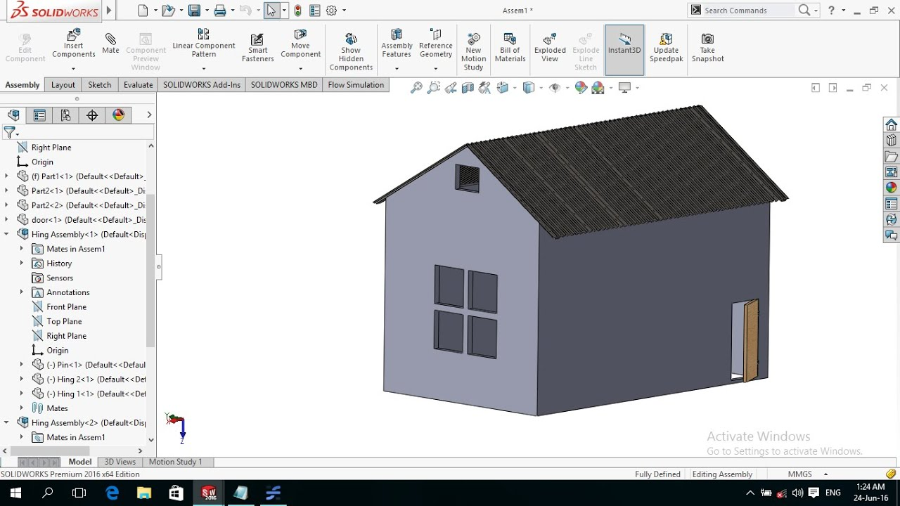 solidworks tutorial modeling home on beginners level 1 2 youtube