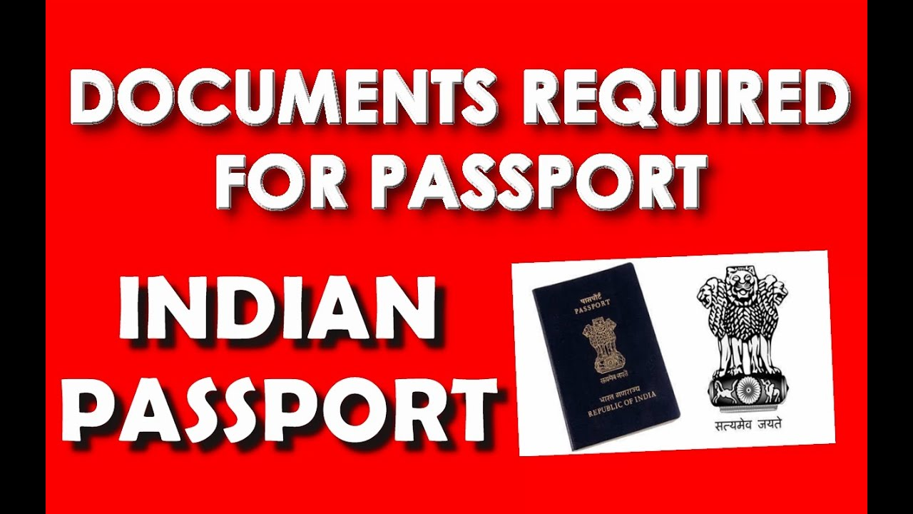 Documents Required For Passport [online Application]