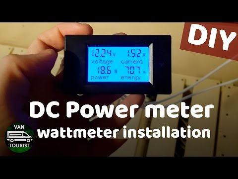 Power meter for your 12V batteries - know how much energy you using in your motorhome or van build