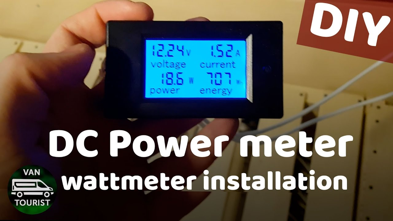 Power Meter For Your 12v Batteries Know How Much Energy You Using Solar Panel Current Circuit Diagram In Motorhome Or Van Build