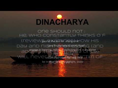 Ayurveda Dinacharya - Diet and Lifestyle