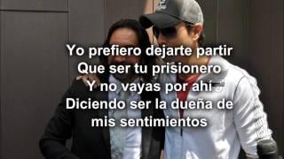 Enrique Iglesias Ft. Marco Antonio Solis -- El Perdedor (Oficial Letra)