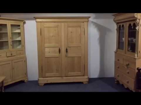 19th Century French Double Wardrobe - Pinefinders Old Pine Furniture Warehouse