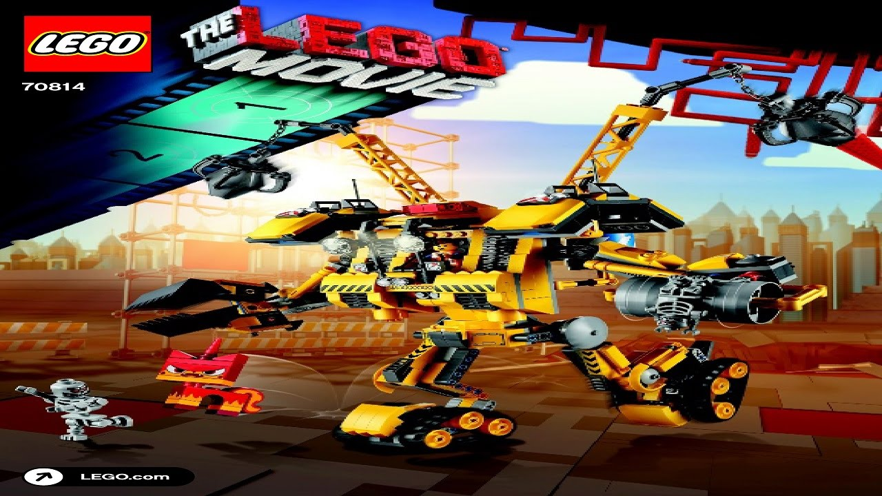 70814 Emmets Construct O Mech Lego Movie Instruction Booklet