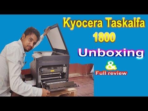 Kyocera Taskalfa 1800 Unboxing & Full Review in Hindi !! Xerox,Duplex,ID Card Xerox,Print ect.