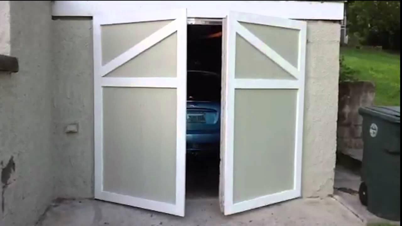 Swinging Garage Door - YouTube