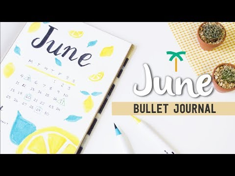 PLAN WITH ME - June 2018 Bullet Journal Setup for Productivity   Stationery Island