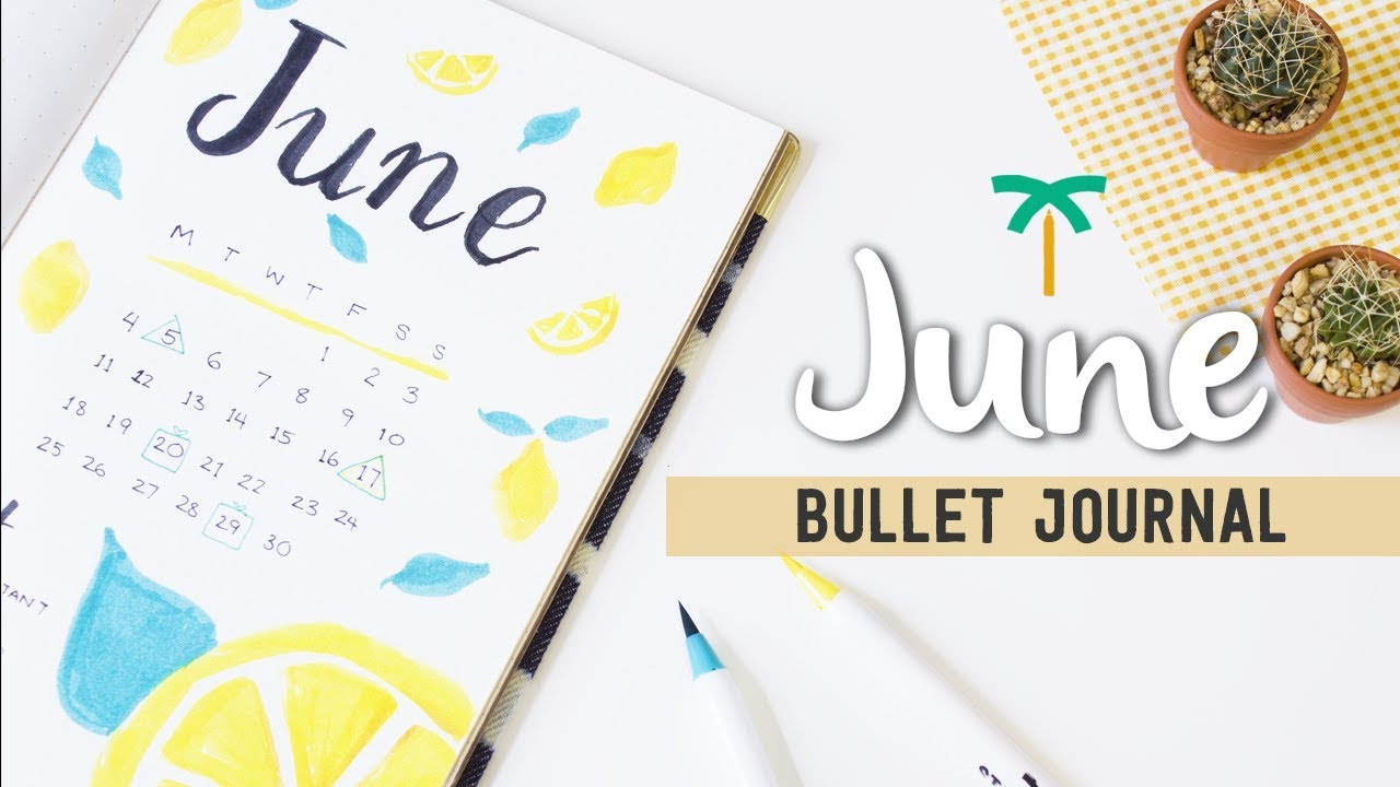 Plan With Me June 2018 Bullet Journal Setup For Summer Stationery Island Youtube