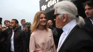 Fendi Party in Paris with Karl Lagerfeld, Natalia Vodianova