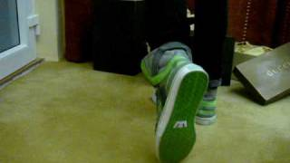 On Feet Section of the ALL NEW Supra Skytop 2 Grey and Lime Green