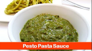 Spinach Basil Pesto Sauce Recipe/ Pesto Pasta Sauce/ Spinach Dip Recipe- Let's Be Foodie