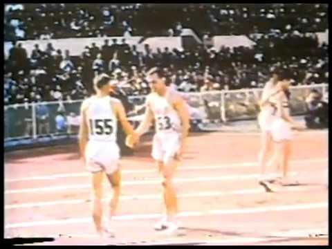 Olympics - 1956 Melbourne - Track - Mens 800m - USA Tom Courtney & GB Derek Johnson  imasportsphile