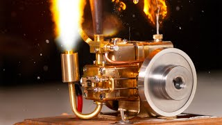 I Blow up Mini Gas Engine with Oxygen Acetylene - (Slow Motion)