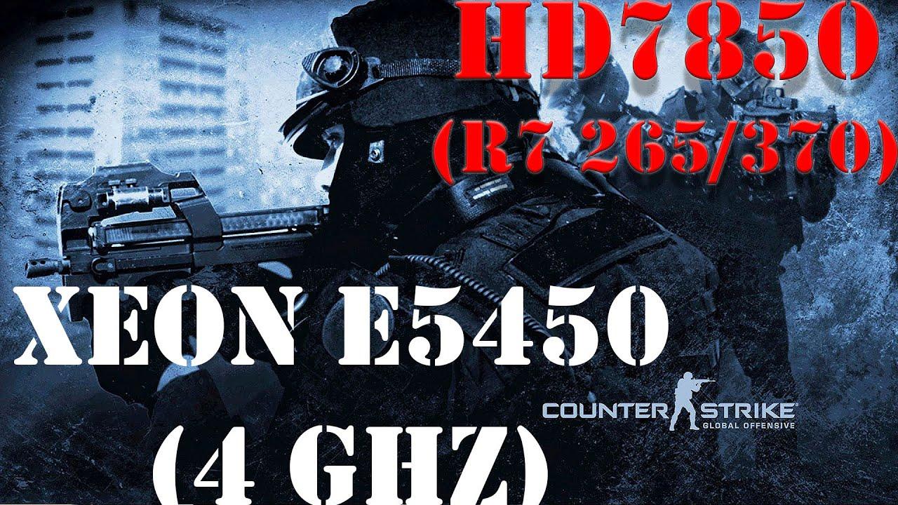 Большое тестирование CS GO на всех настройках графики Xeon E5450(Q9650), HD7850(R7 265/370)