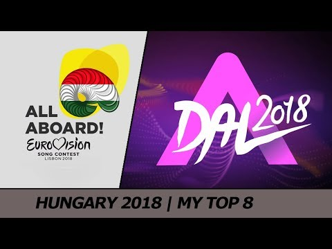 Eurovision 2018 HUNGARY (FINAL - A Dal) | My Top 8