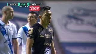 ¡Ángel Mena puso calientito el partido luego de anotar el penal! | Puebla 2-1 León