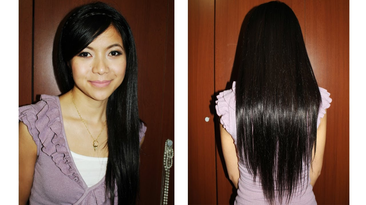 How To Apply Clip In Hair Extensions Youtube