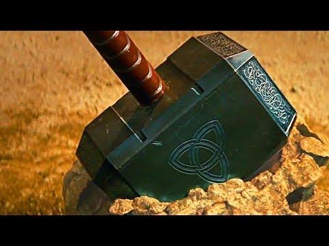 锤子被施加魔法送到地球,谁能举起此锤,谁就能拥有雷神之力!