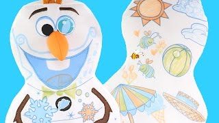 Disney Frozen Olaf Inkoos Washable Color, Create, Draw plush pillow by DCTC
