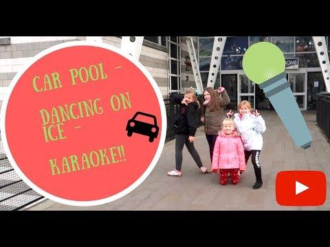 Car Pool -  Dancing on ice - karaoke!!⛄⛸🎄🏊⛄ 🚗 👍