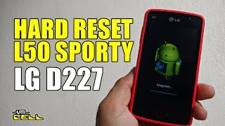 Hard Reset no LG Optimus L50 Sporty (D227) #UTICell