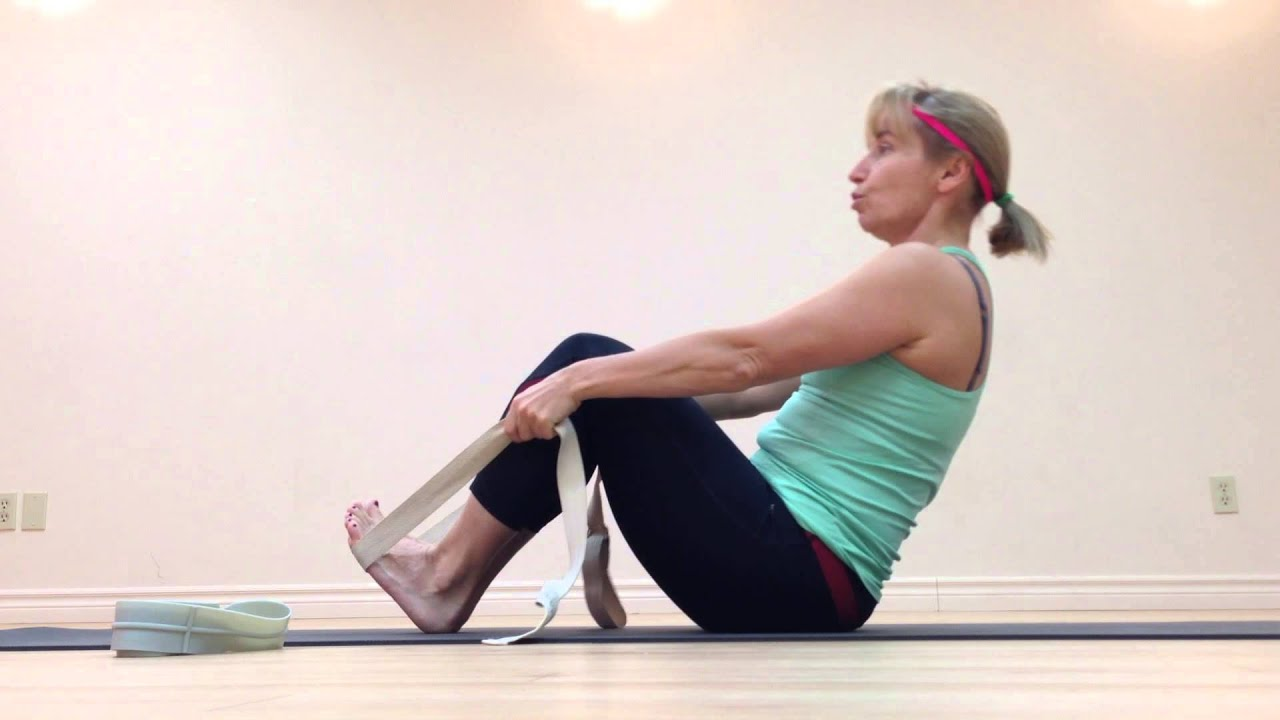 Step by step Navasana. With props. In Russian. - YouTube