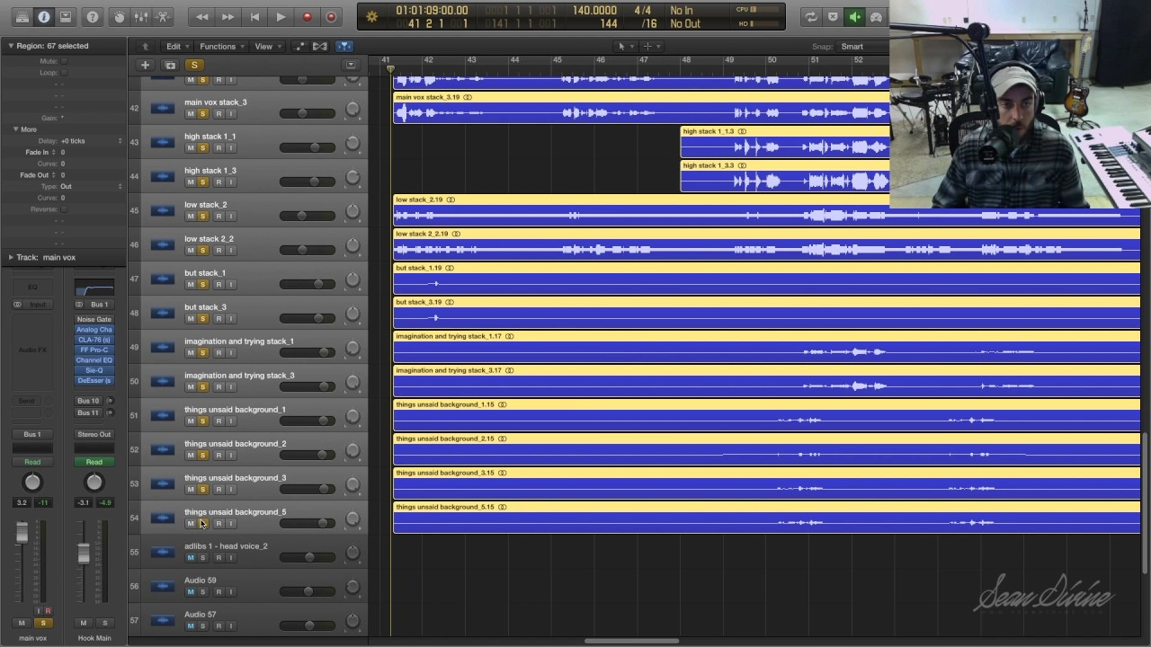 Using Strip Silence to Remove Noise From Vocals (Logic Pro X)