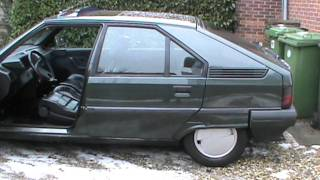 Citroen BX TZD TURBO diesel Cold start