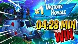 WINNER GAME ON 4:28 MIN (Getaway)-Fortnite Battle Royale