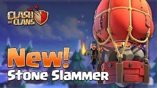 SNEAK PEEK #3 - NEW SIEGE MACHINE! THE STONE SLAMMER! Winter Update 2018! | Clash of Clans