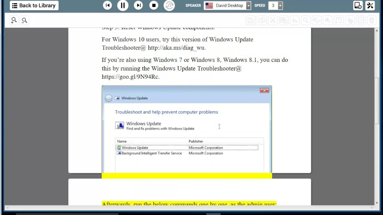 Windows update troubleshooter - Fix Error Code 800f020b On Windows