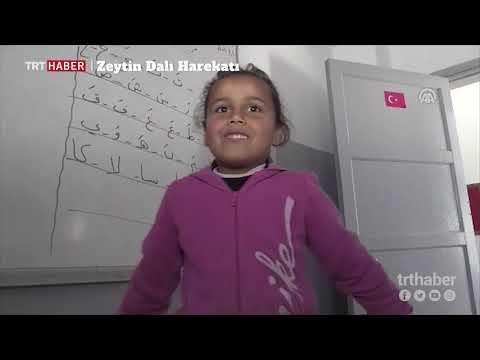 Afrin'de, hasara uğrayan okullar Türkiye'nin desteğiyle onarılıyor.