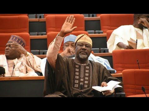 DRAMA IN SENATE HOUSE AS DINO MELAYE SCATTERS SENATE MEETING AFTER MAKING A STATEMENT (SEE WHAT HE S